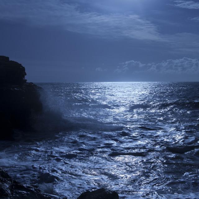 """luna sul mare"" stock image"