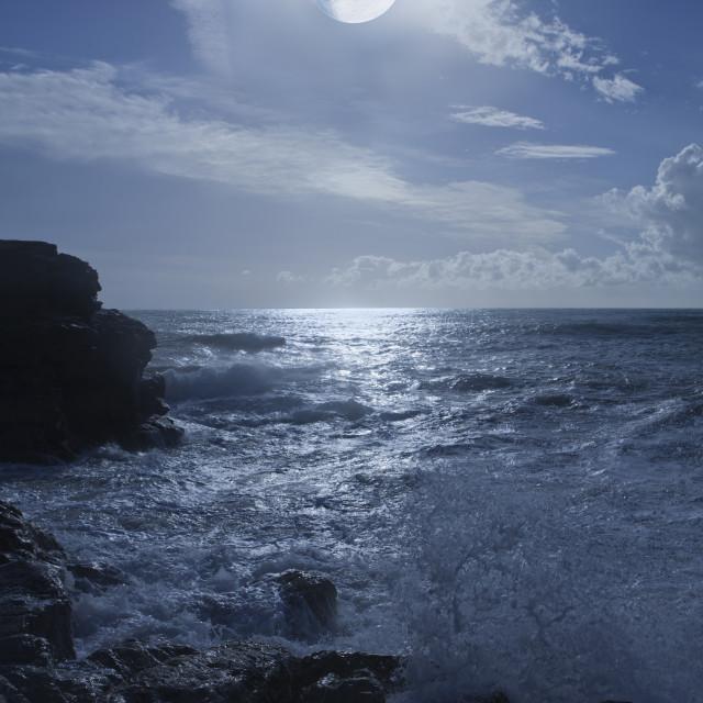"""""""notturno sul mare"""" stock image"""