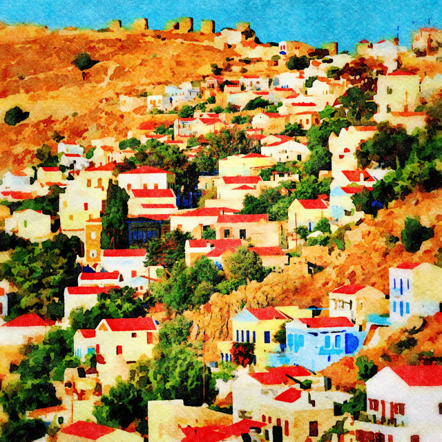 """Symi island in Greece"" stock image"