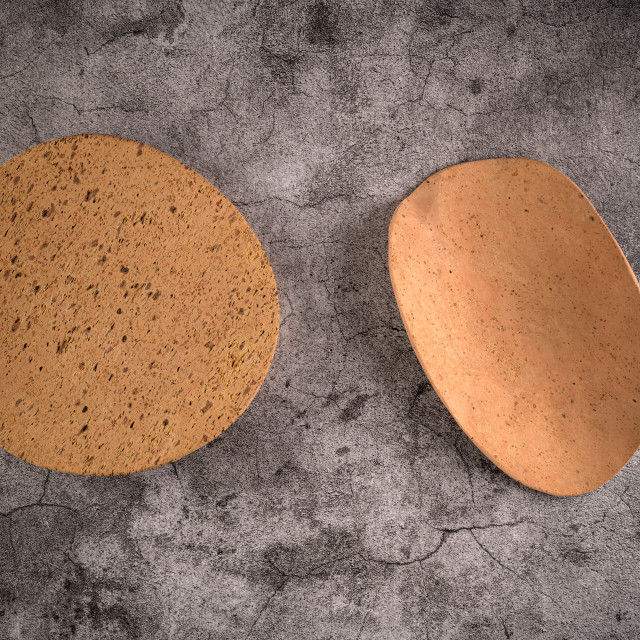 """Two cork plates"" stock image"