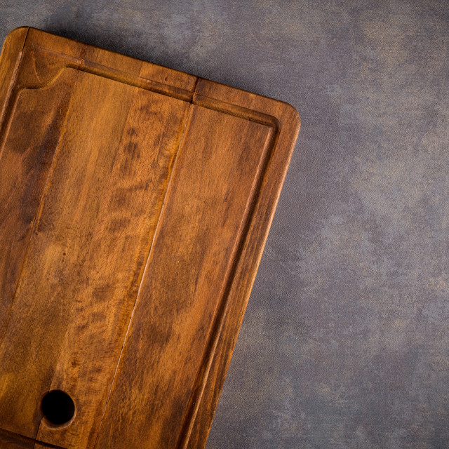 """Wooden cutting board"" stock image"