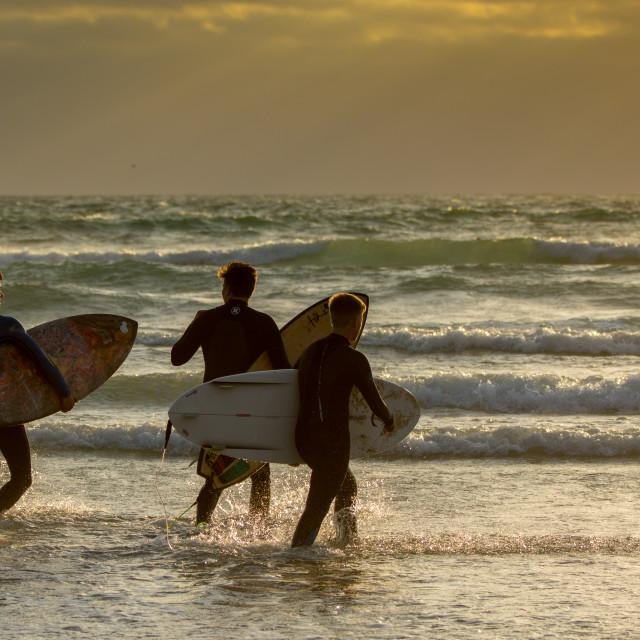 """Cornish Surfing"" stock image"
