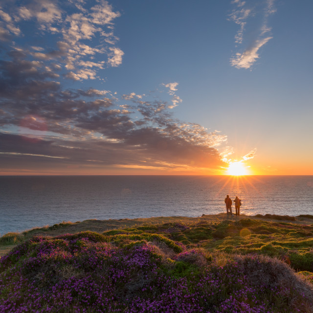 """Cornish Sunset At St.Agnes"" stock image"