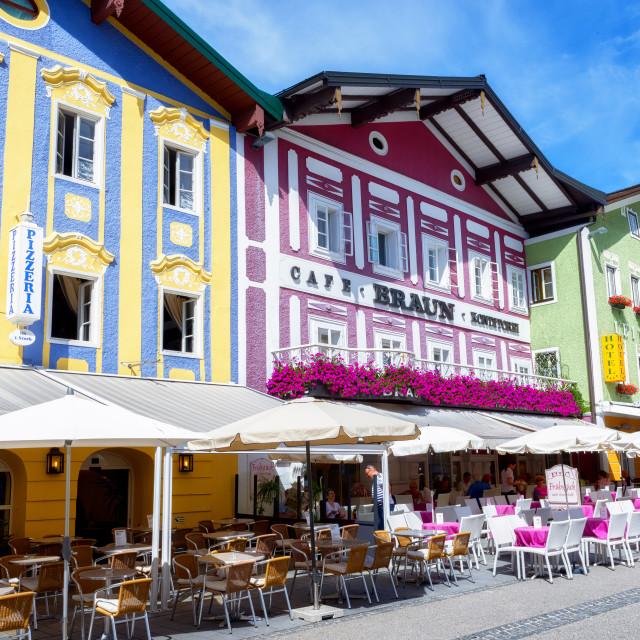 """Town of Mondsee, Austria"" stock image"