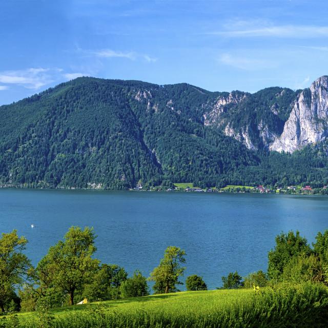 """Mondsee Lake, Austria"" stock image"