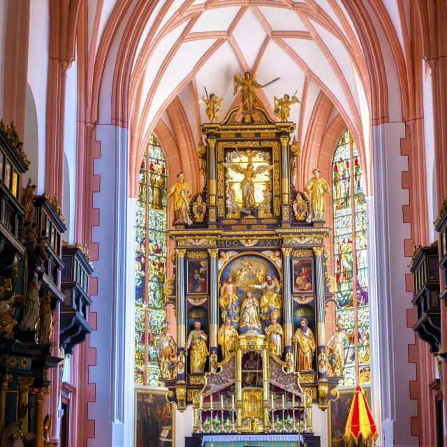 """Mondsee Abbey"" stock image"