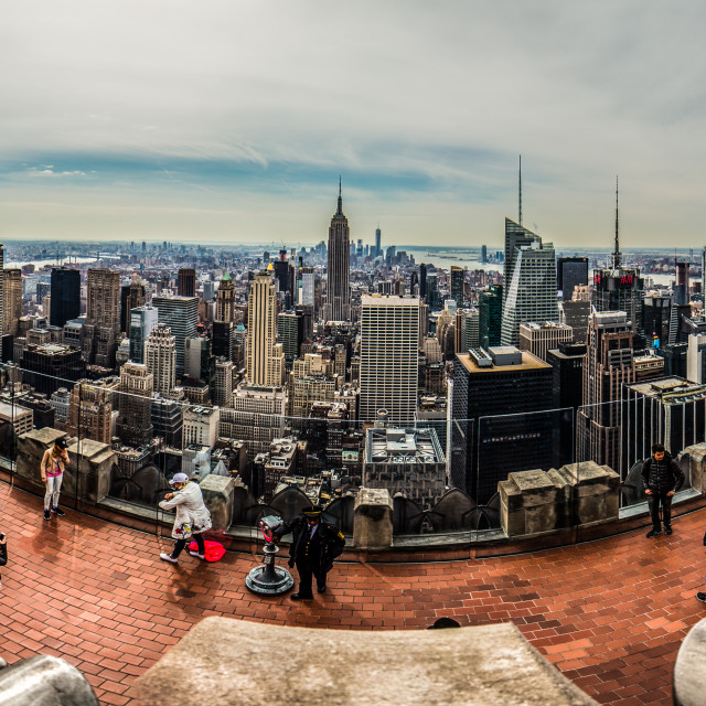 """""""Top of the Rock Panorama"""" stock image"""