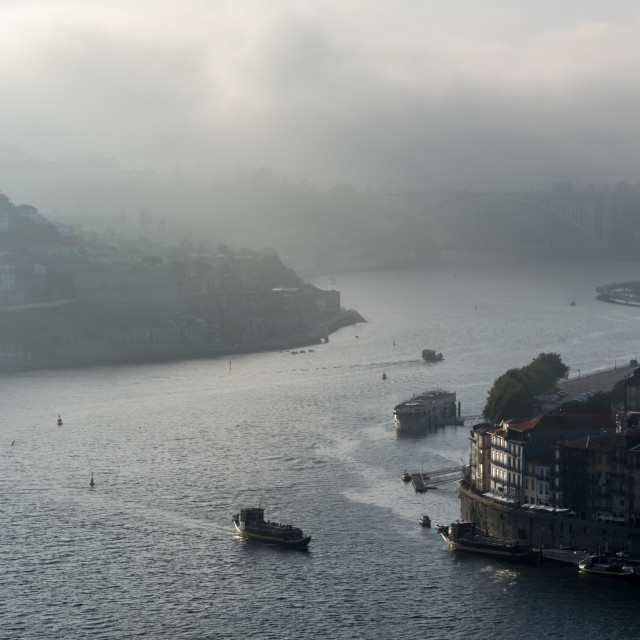 """Misty evening in Porto"" stock image"