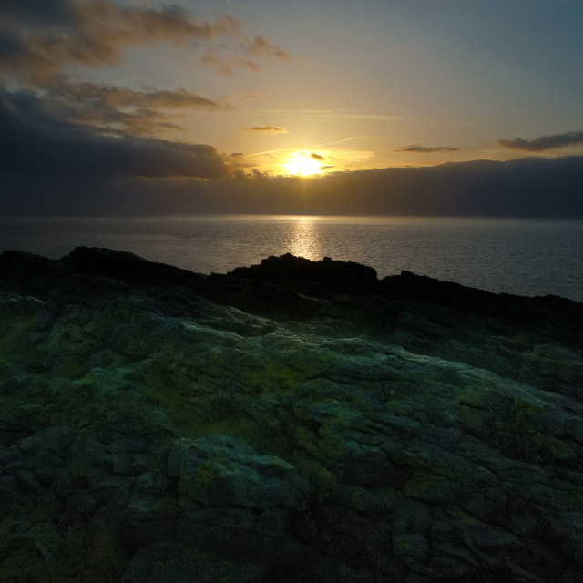 """Sunrise from Friars Point"" stock image"
