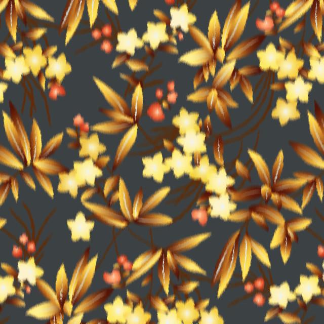 """""""fiori e foglie in allower"""" stock image"""