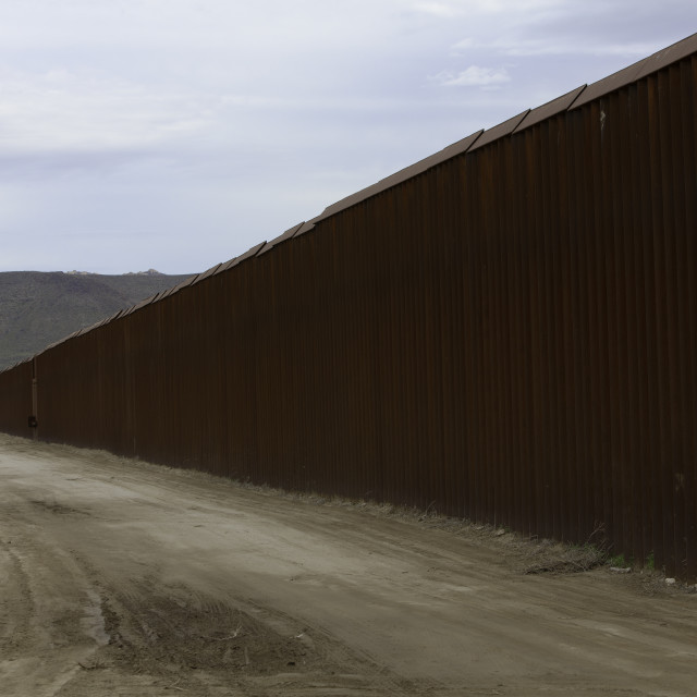 """United States Border Wall"" stock image"