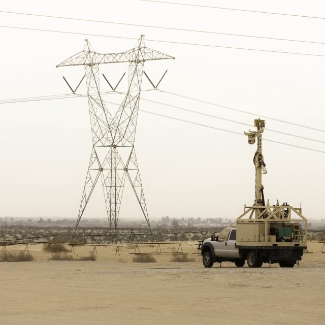 """United States Border Patrol Surveillance Vehicle"" stock image"