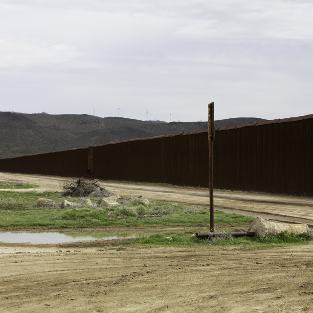 """United States Border Wall in California"" stock image"