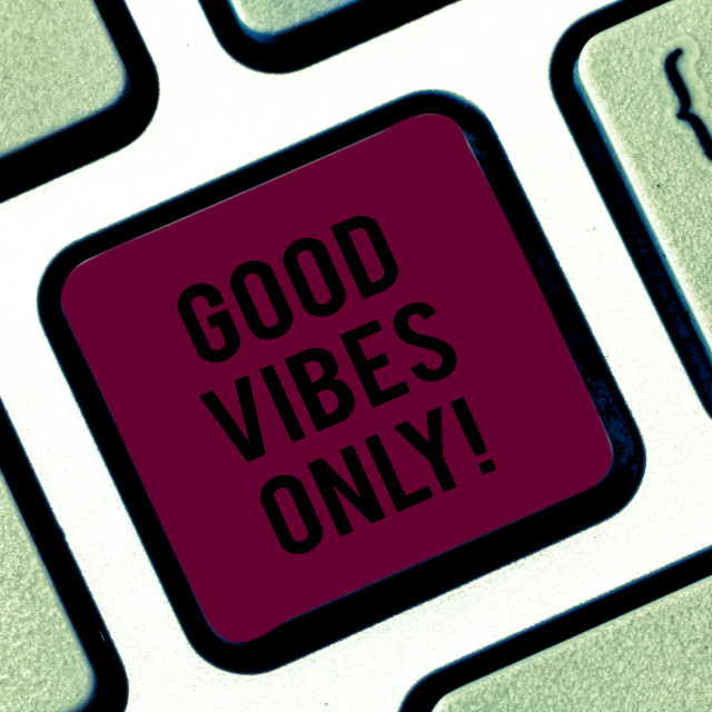 """""""Handwriting text Good Vibes Only. Concept meaning Just positive emotions..."""" stock image"""