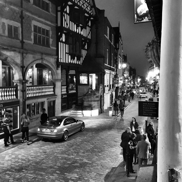 """""""Watergate Street, Chester."""" stock image"""
