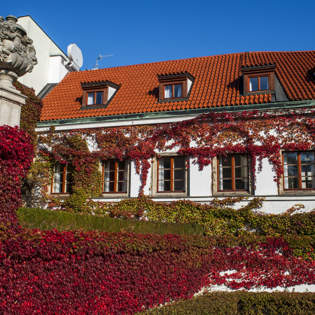 """Historical building of Vrtba Baroque Garden in Prague in autumn"" stock image"