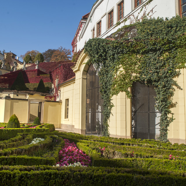 """Vrtba Baroque Garden in Prague at Autumn Sunny Day"" stock image"