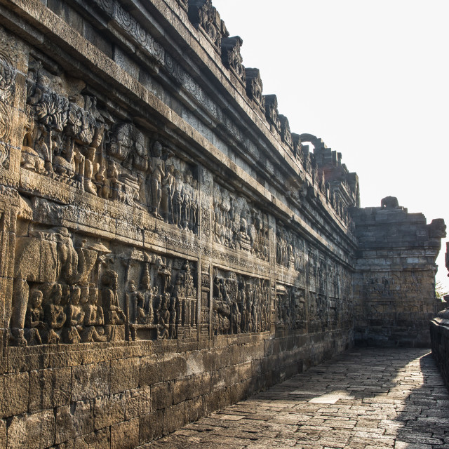 """Borobudur Temple 's low relief"" stock image"