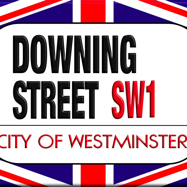 """Downing street sign"" stock image"