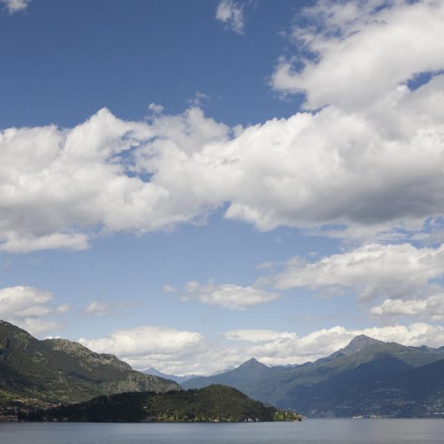 """""""nuvole sul lago di Como"""" stock image"""