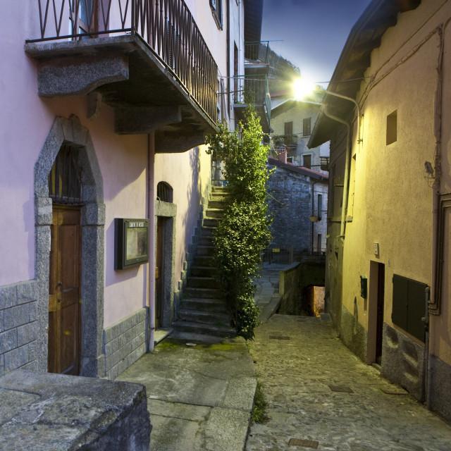 """""""borgo di notte"""" stock image"""