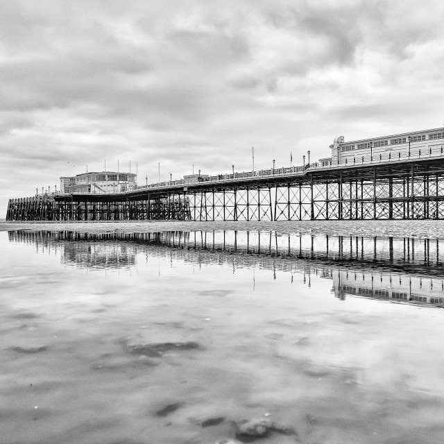 """""""Worthing Pier At Low Tide 2"""" stock image"""