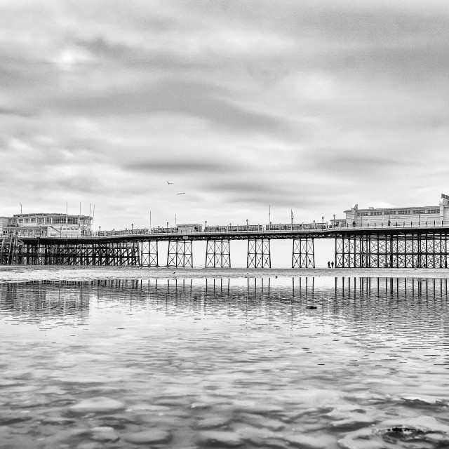 """""""Worthing Pier At Low Tide 3"""" stock image"""