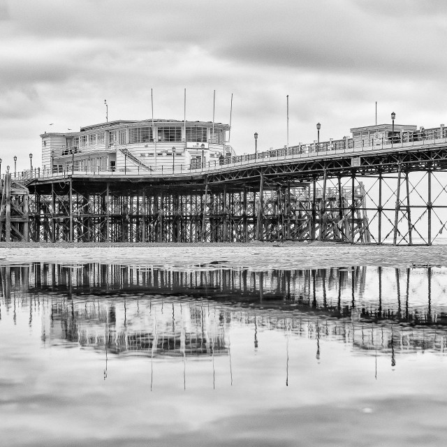 """""""Worthing Pier At Low Tide 1"""" stock image"""