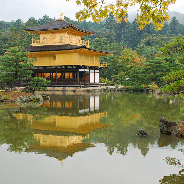 """Temple of the Golden Pavilion"" stock image"