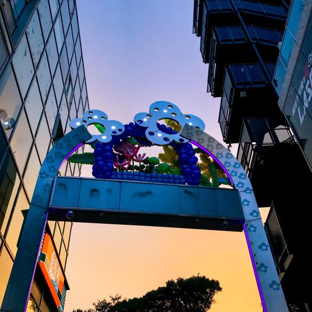"""""""Takeshita Street Sunset"""" stock image"""