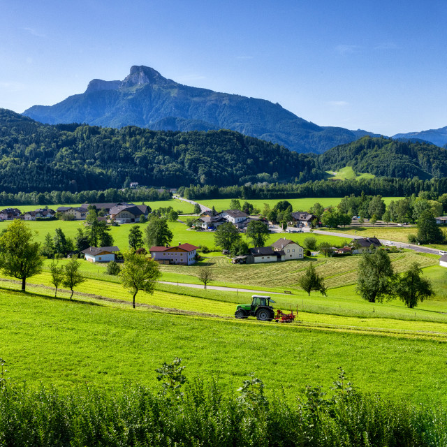 """Mondsee Countryside"" stock image"