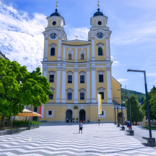 """The Basilica Mondsee"" stock image"