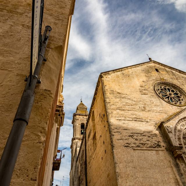 """Stunning Italian church in cloudy summer day"" stock image"