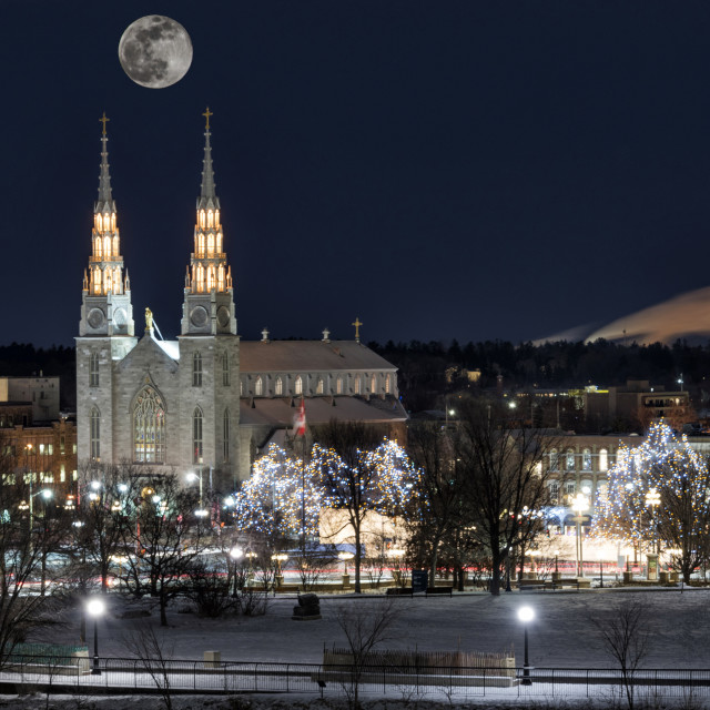 """Ottawa SuperMoon"" stock image"