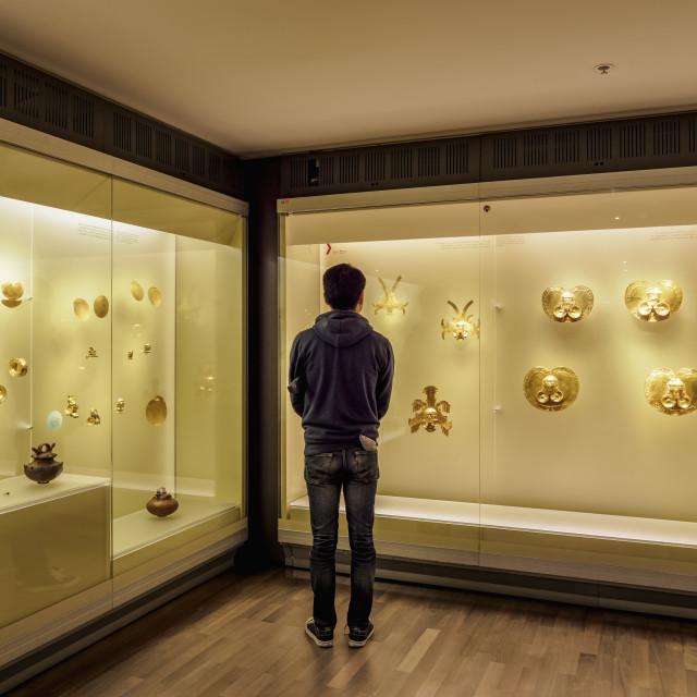 """Gold Museum, interior, Bogota, Capital District, Colombia"" stock image"