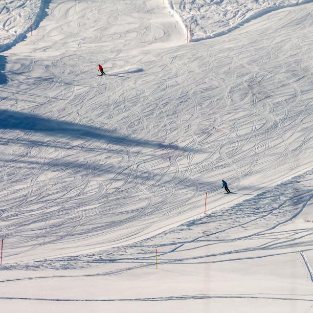 """Skiers."" stock image"