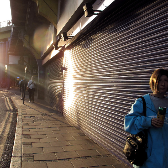 """""""It's a Had Life: Streets of Brixton"""" stock image"""
