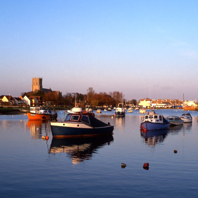 """""""Christchurch and the Stour"""" stock image"""