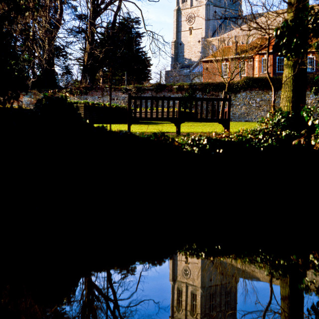 """""""Christchurch Priory"""" stock image"""