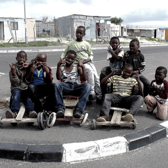 """""""South Africa Township Kids at Play"""" stock image"""