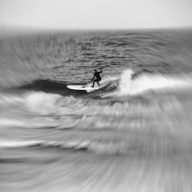"""Twilight Surfing"" stock image"