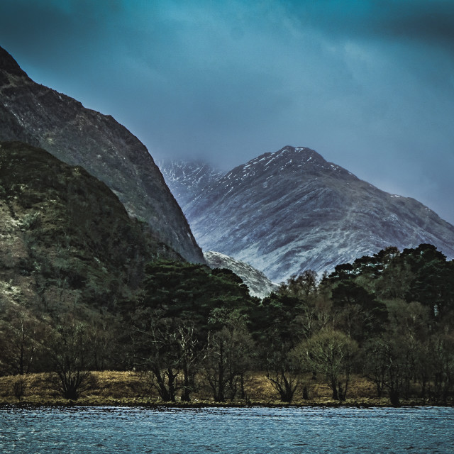 """Glenfinnan clouds"" stock image"