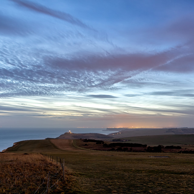 """""""Looking towards Belle Tout"""" stock image"""