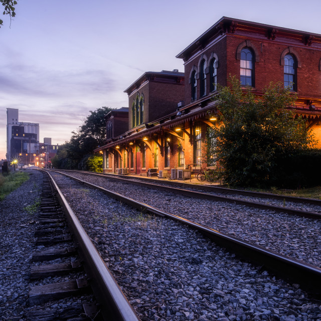 """Erie Railroad Depot"" stock image"