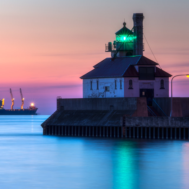 """""""Duluth South Pier Light"""" stock image"""