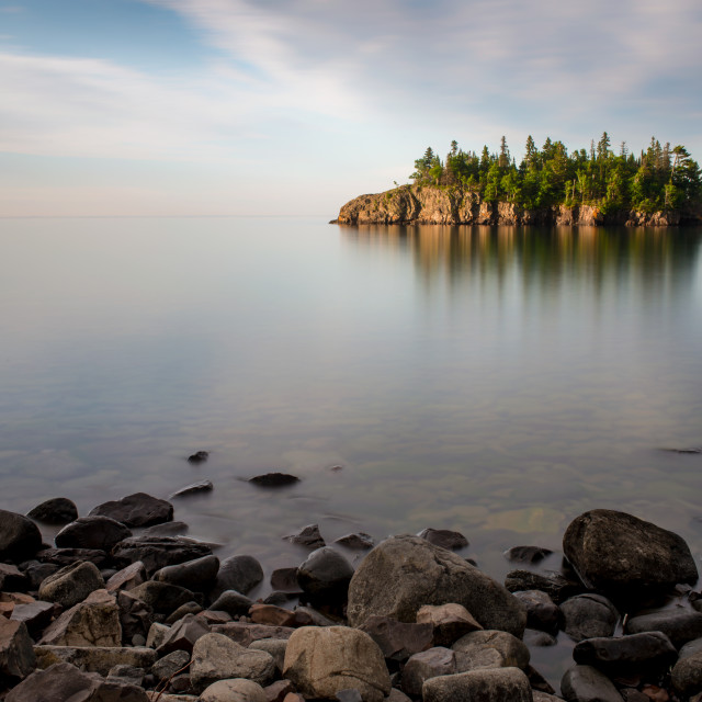 """Lake Superior Serenity"" stock image"