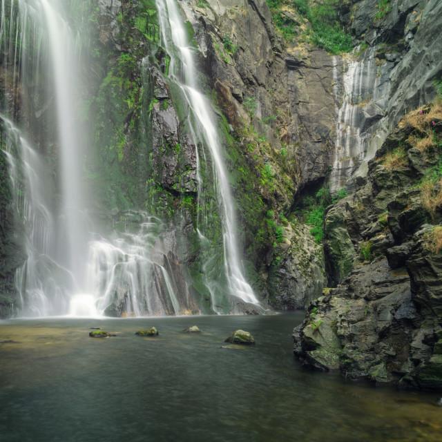 """Bottom of the Toxa waterfall"" stock image"