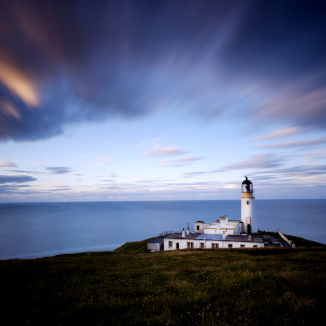 """Tiumpan Head Lighthouse, Isle of Lewis"" stock image"