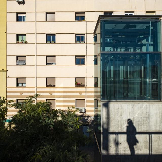 """""""Urban landscape in Barcelona"""" stock image"""