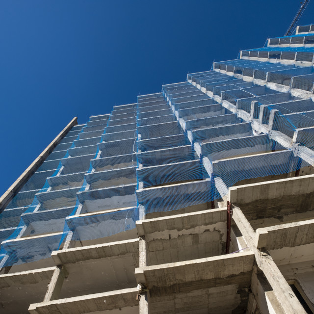 """""""Construction of a building in Barcelona"""" stock image"""